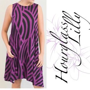 Hourglass Lilly Dresses - Hourglass Lilly Swing Tank Dress